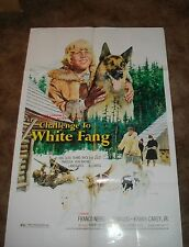 CHALLENGE TO WHITE FANG Franco Nero ORIGINAL 1975 ONE SHEET MOVIE POSTER