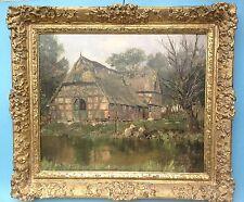Impressionismus Ölgemälde Reethof Erbhof Worpswede Bremen Niedersachsen J.Burger