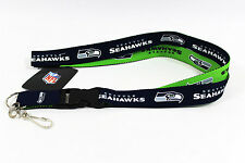 OFFICIAL LICENSED NFL TWO-TONE LANYARD **SEATTLE SEAHAWKS** KEYCHAIN