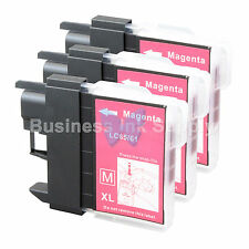 3 MAGENTA LC61 Ink for Brother MFC-J630W MFC-J615W MFC-J415W MFC-J410W MFC-J270W