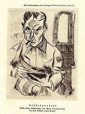 """Max pechstein """"même portrait"""" L' art de pression de 1921"""