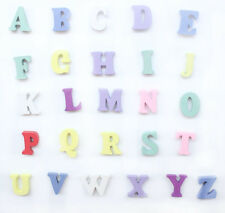 "100 Mixed Colors Alphabet ""A-Z"" Shape Wood Sewing Scrapbooking A002"