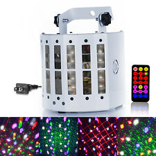 Sound Active Laser Projector DMX512 LED RGBWY Strobe Stage Light DJ Party KTV