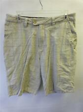 mens HURLEY tan plaid shorts sz 32 skate surf board shred golf bike moto Clean