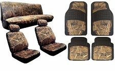 12pc Muddy Water Forest Camo Seat Cover Set Floor Mats Car & Truck Forest CS10
