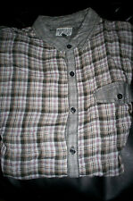 NWT! Men's Threads & Heirs LIGHTWEIGHT cotton L/S buttonfront shirt plaid-MEDIUM