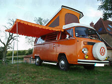 Top Quality Vintage Sun Canopy with rubber strip clamping VW camper vans 3 poles