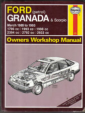 Ford Granada & Scorpio 1985-1993 Petrol Haynes Owners Workshop Manual