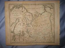 ANTIQUE 1809 NORTH RUSSIA MUSCOVY IN EUROPE COPPERPLATE MAP ARCTIC LAPLAND NR