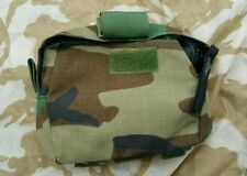 American US Woodland Medic Pouch with Trama Bandage Molle Utility Zip Up