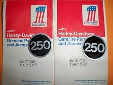 HARLEY AERMACCHI AMF NOS 250 STICKERS SS250 SX250  24507-78P