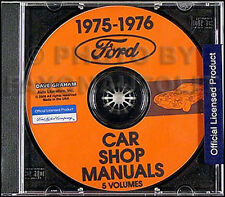 1975-1976 Lincoln Shop Manual Set on CD Continental and Mark IV Repair Service