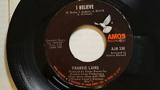 """FRANKIE LAINE - I Believe / On the Sunny Side of the Street 1972 POP Amos 7"""" NM"""