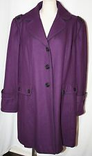 GUESS TRENCH COAT WOOL WINTER JACKET baby doll PEACOAT PLUS SIZE PURPLE 3X
