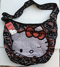 HELLO KITTY ALL OVER HOBO W/ RED BOW