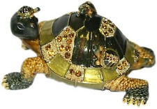 Pewter Turtle Family Figure Matching Necklace Inside Tortoise Charm Pendant New