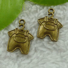 Free Ship 280 pieces bronze plated rompers charms 22x16mm #2534