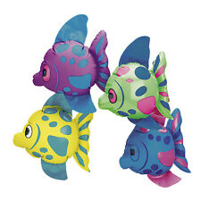12 COLORFUL Inflatable FISH Beach Luau Hawaiian Tropical Pool Party