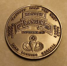 4th Ranger Training Battalion Ft Benning Camp Rodgers Darby Army Challenge Coin