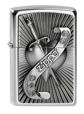 Zippo en TU MECHERO heart with sword, corazón con espada 2003969