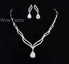 925 Solid Sterling Silver 8mm Diamond Created Women Wedding Bridal Earring XE48