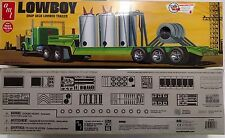 AMT Lowboy Drop Deck Semi-Trailer 1/25 Scale Plastic Model Trailer Kit - AMT880