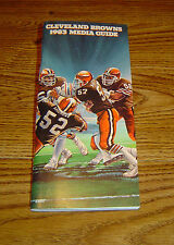 1983 Cleveland Browns Media Guide NR/MT. - Reduced -