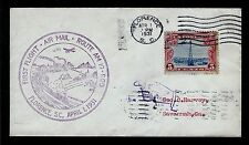 FIRST FLIGHT COVER Florence SC Savannah GA #AM 19 Beacon Rocky Mtns 5c #C11 1931