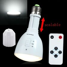E27 Energy Saving Rechargeable White LED Emergency Camping Hunting Light Bulb #U
