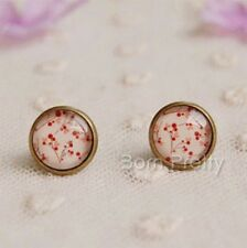 1 Paar Rot Cherry Ohrclip Ohrring Schmuck Ohrschmuck Earrings Ear Studs
