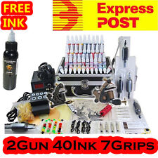 Tattoo Kit Machine 2 Guns 40 Inks Power Supply RRP$800