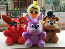 Set of 4 FNAF Five Nights at Freddy's Chica Bonnie Foxy Plush Doll Toy Gift 10''