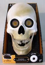 2011 Gemmy Strobing Light Up Musical Tabletop Creepy Skull- New- Watch Video