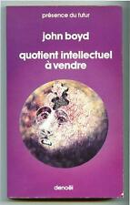 PdF N° 210 QUOTIENT INTELLECTUEL A VENDRE / John Boyd / Denoël 1976