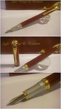 stilografica Fuliwen fountain Pen Red Lacquer Pump-Fill - Stylo Nib steel siz.