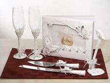 Butterfly Theme Wedding Set Accessories Reception Guest Book Flutes Server Cake