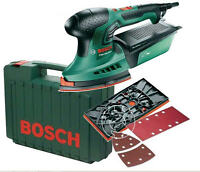 BOSCH Wood Detail Palm Orbital & 1/3 Sheet Multi Sander + Pads, 240v,PSM 200 AES