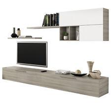 Set da soggiorno con mobile porta tv mensole arredamento casa design 016683W