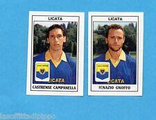 PANINI CALCIATORI 1989/90 -Figurina n.418- CAMPANELLA+GNOFFO -LICATA-Recuperata