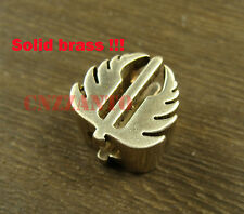 Strider style Lanyard Bead Solid brass PARABEADS Parachute Cord Knife pendant