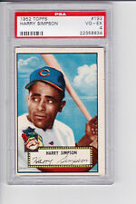 1952 TOPPS CARD HARRY SIMPSON #193 VG-EX 4 PSA, CLEVELAND INDIANDS