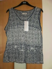 M & S Per Una Cross Stitch Burnout Vest Top Size 16 BNWT RRP £25