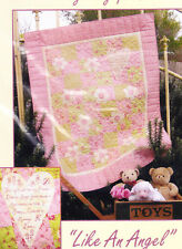 Like An Angel - sweet pieced, applique & stitchery cot quilt PATTERN - Rivendale