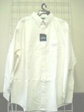 Mens Size 4XL Dress/Casual Shirt, WHITE, 100% Cotton, Oxford Style,4X