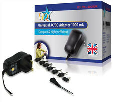 HQ Universal AC/DC Adapter 1000mA  3V, 4.5V, 5V, 6V, 9V and 12V output