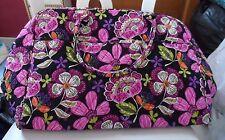Vera Bradley weekender in Pirouette Pink pattern