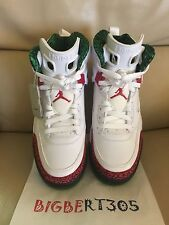 Nike Air Jordan Spizike White/Cement Grey/Classic Green/Varsity Red (Deadstock)