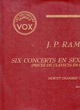 """33 T LP """"J.P RAMEAU / SIX CONCERTS EN SEXTUOR / MAURICE HEWITT"""" (MADE IN U.S.A)"""
