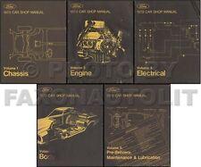 1973 Lincoln ORIGINAL Shop Manual Set Mark IV Continental Town Car 5 Vols Repair