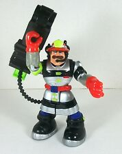 """Fisher Price Rescue Heroes Billy Blazes With Chopping Ax 6"""" 2002 Mattel"""